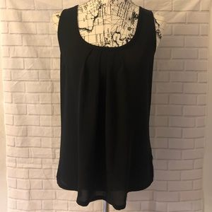 🔴Express black pleated tank top blouse back tie